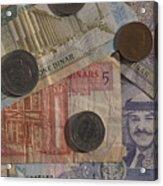 Jordan Currency Acrylic Print by Richard Nowitz