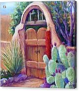 Josefina's Gate Acrylic Print by Candy Mayer