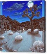 Joshua Tree At Night Acrylic Print by Snake Jagger