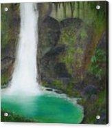 Juana Falls Acrylic Print by Tony Rodriguez