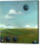 Juggling 2 Acrylic Print by Katherine DuBose Fuerst