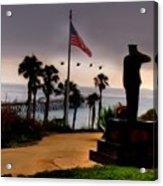 July 4th San Clemente Flyover Acrylic Print by Barbara Radcliffe