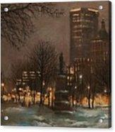 Juneau Park Milwaukee Acrylic Print by Tom Shropshire