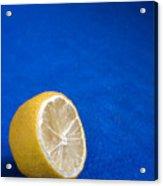Just A Lemon Acrylic Print by Steve Outram