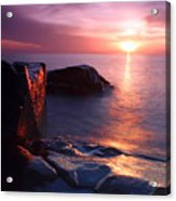 Just Another Superior Sunrise. Acrylic Print by Jamie Rabold