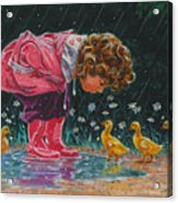 Just Ducky Acrylic Print by Richard De Wolfe