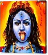 Kali  -hindu Goddess Acrylic Print by Carmen Cordova