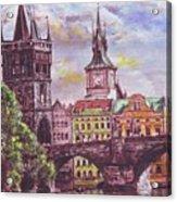 Karluv Most A Novotneho Lavka  Acrylic Print by Gordana Dokic Segedin