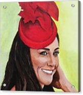 Katherine Duchess Of Cambridge Acrylic Print by Betty-Anne McDonald