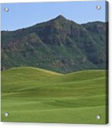 Kauai Marriott Golf Cours Acrylic Print by William Waterfall - Printscapes