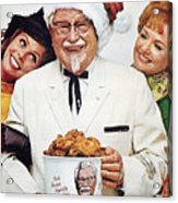 Kentucky Fried Chicken Ad Acrylic Print by Granger