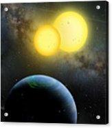 Kepler-35 Acrylic Print by Lynette Cook