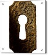 Key Hole Acrylic Print by Tony Cordoza
