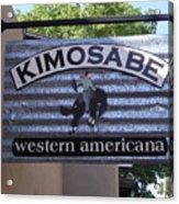 Kimosabe Acrylic Print by Mary Rogers