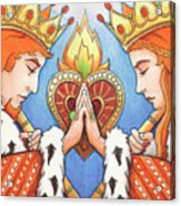 King And Queen Of Hearts Acrylic Print by Amy S Turner