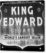 King Edward Cigars Acrylic Print by David Lee Thompson