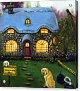 Kinkade's Worst Nightmare 2  Acrylic Print by Leah Saulnier The Painting Maniac