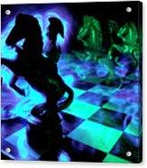 Knight Moves Acrylic Print by Barbara  White