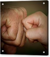 Knuckle Punch Acrylic Print by Karen M Scovill