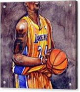 Kobe Bryant Acrylic Print by Dave Olsen