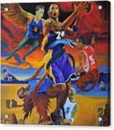 Kobe Defeating The Demons Acrylic Print by Luis Antonio Vargas