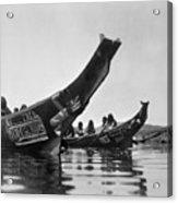 Kwakiutl Canoes, C1914 Acrylic Print by Granger