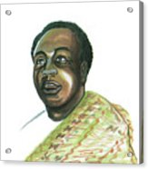 Kwame Nkrumah Acrylic Print by Emmanuel Baliyanga