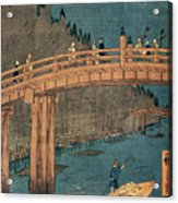 Kyoto Bridge By Moonlight Acrylic Print by Hiroshige