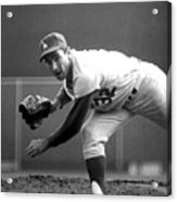 L.a. Dodgers Pitcher Sandy Koufax, 1965 Acrylic Print by Everett