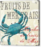 La Mer Shellfish 1 Acrylic Print by Debbie DeWitt