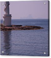 La Sabina Lighthouse Formentera And The Island Of Es Vedra Acrylic Print by John Edwards