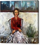 Lady In Waiting Acrylic Print by Mary St Peter