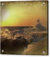 Lake Michigan Sunset Acrylic Print by Maria Dryfhout