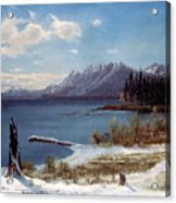 Lake Tahoe Acrylic Print by Albert Bierstadt
