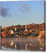 Lake Winnipesaukee Meredith Autumn Morning Acrylic Print by John Burk