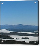 Lake Winnipesaukee View From Mt. Major Acrylic Print by Michael Mooney