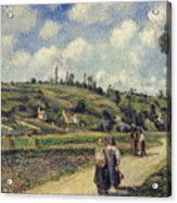 Landscape Near Pontoise Acrylic Print by Camille Pissarro