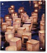 Lantern Floating Ceremony Acrylic Print by Brandon Tabiolo - Printscapes