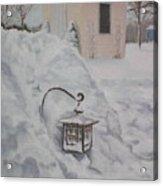 Lantern In The Snow Acrylic Print by Lea Novak