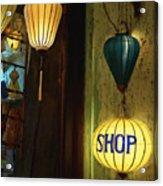 Lanterns At A Gift Shop Entrance Acrylic Print by Skip Nall