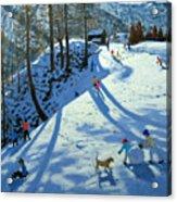 Large Snowball Zermatt Acrylic Print by Andrew Macara