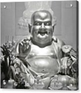 Laughing Buddha - A Symbol Of Joy And Wealth Acrylic Print by Christine Till