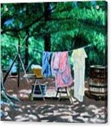 Laundry Day 1800 Acrylic Print by Stan Hamilton