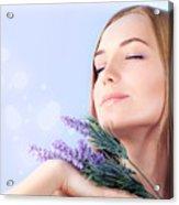 Lavender Spa Aromatherapy  Acrylic Print by Anna Omelchenko