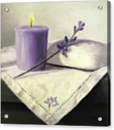 Lavender Sprig Acrylic Print by Linda Jacobus