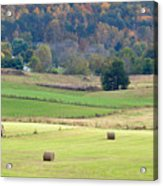 Layers Of Fields Acrylic Print by Jan Amiss Photography