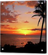 Lazy Sunset Acrylic Print by Kamil Swiatek