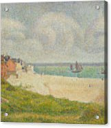 Le Crotoy Looking Upstream Acrylic Print by Georges Pierre Seurat