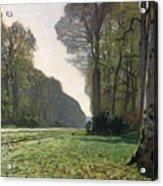 Le Pave De Chailly Acrylic Print by Claude Monet