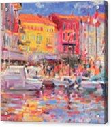 Le Port De St Tropez Acrylic Print by Peter Graham